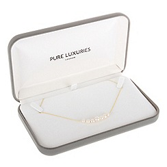 Pure Luxuries London - Gift packaged graduated freshwater pearl and 9ct yellow gold necklace