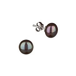 Pure Luxuries London - Gift packaged 'Marlene' 11-11.5mm peacock pearl earrings
