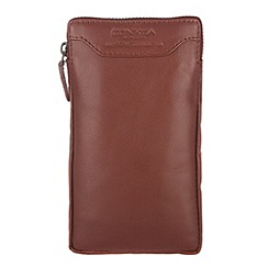 Conkca London - Whiskey 'Shield' veg-tanned leather large case