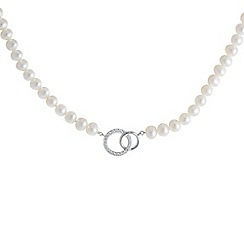 Pure Luxuries London - Gift packaged 'Panthea' pearl and cubic zirconia necklace