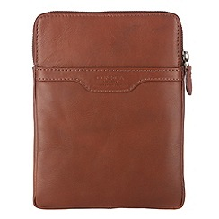 Conkca London - Cognac 'Defender' veg-tanned leather tablet case