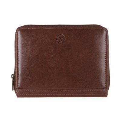 Conkca London Brown ´Pintail´ zip-round leather purse - . -