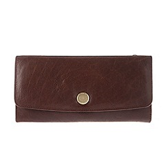 Conkca London - Conker brown 'Imogen' handcrafted leather purse