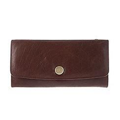 Conkca London - Conker brown 'Imogen' handcrafted leather purse