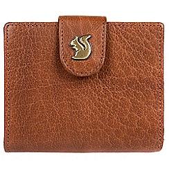 Conkca London - Tan 'Nova' handcrafted leather RFID purse