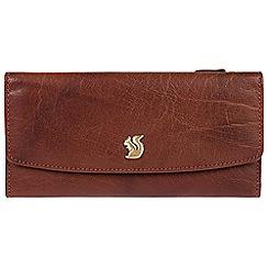 Conkca London - Brown 'Zaya' cowhide tri-fold RFID purse
