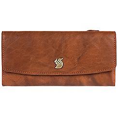 Conkca London - Tan 'Zaya' cowhide tri-fold RFID purse