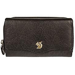Conkca London - Black 'Alexia' handmade leather RFID purse