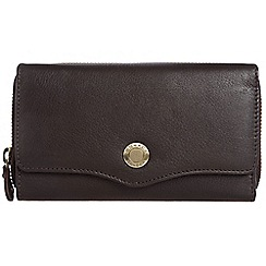 Conkca London - Dark brown 'Alexia' RFID leather purse