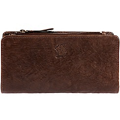 Conkca London - Conker brown 'Misty' handcrafted leather RFID purse