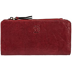 Conkca London - Red 'Misty' handcrafted leather RFID purse