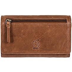 Conkca London - Tan 'Orlagh' leather tri-fold RFID purse