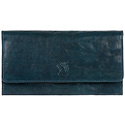 Conkca London - Denim 'Rhona' cowhide RFID purse