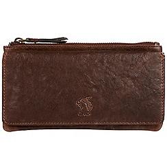 Conkca London - Conker brown 'Suzie' handmade leather RFID purse