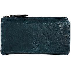 Conkca London - Denim 'Suzie' handmade leather RFID purse