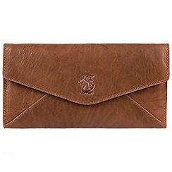 Conkca London - Tan 'Talisha' leather tri-fold RFID purse
