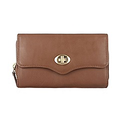 Conkca London - Chestnut 'Alondra' veg-tanned leather purse