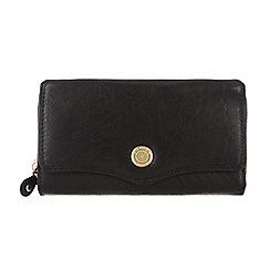 Conkca London - Oxford black 'Alondra' leather purse
