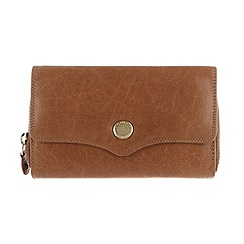 Conkca London - Dark tan 'Alondra' handcrafted leather purse