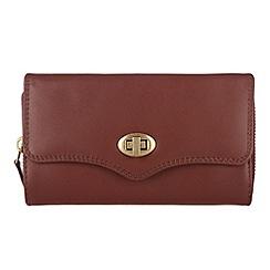 Conkca London - Whiskey 'Alondra' veg-tanned leather purse