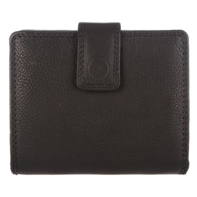 Conkca London Black ´Caris´ veg-tanned leather zip-round wallet - . -