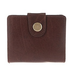 Conkca London - Conker brown 'Caris' handcrafted leather purse