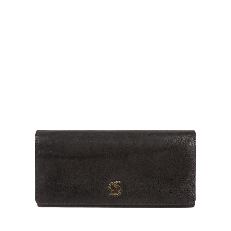 Conkca London Black 'Bloom' handcrafted leather purse - MISC - Purses (P5056032744448) photo