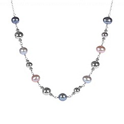 Pure Luxuries London - Gift packaged multicoloured freshwater pearl necklace