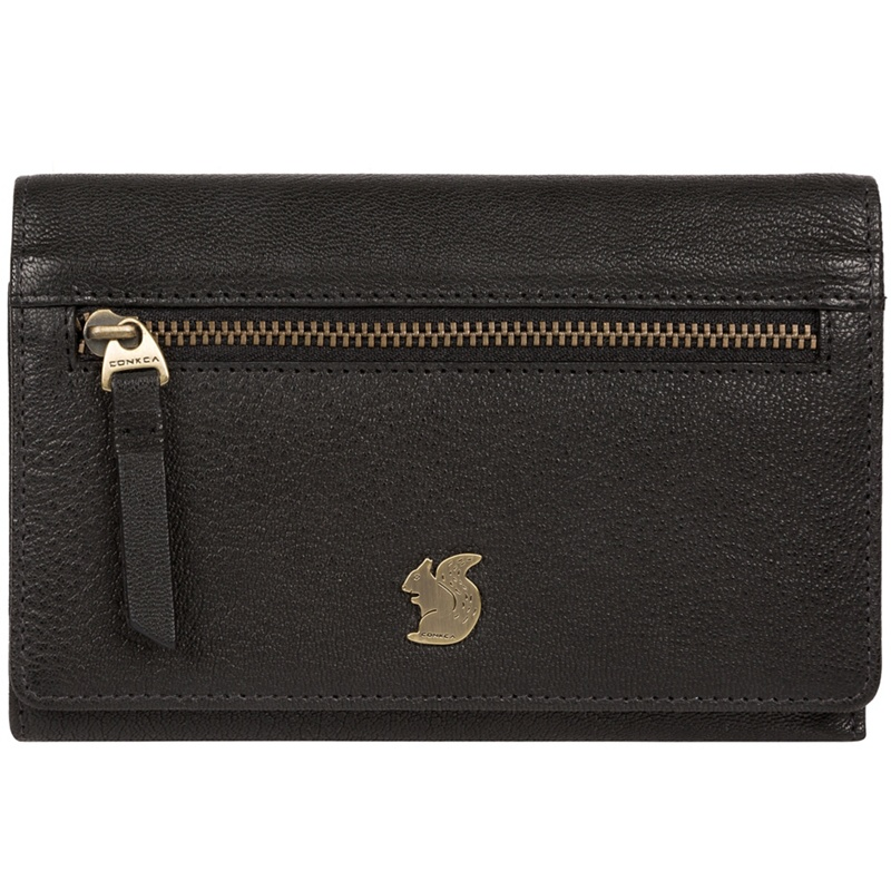 Conkca London Black 'Ling' handcrafted leather purse - MISC - Purses (P5056032744493) photo