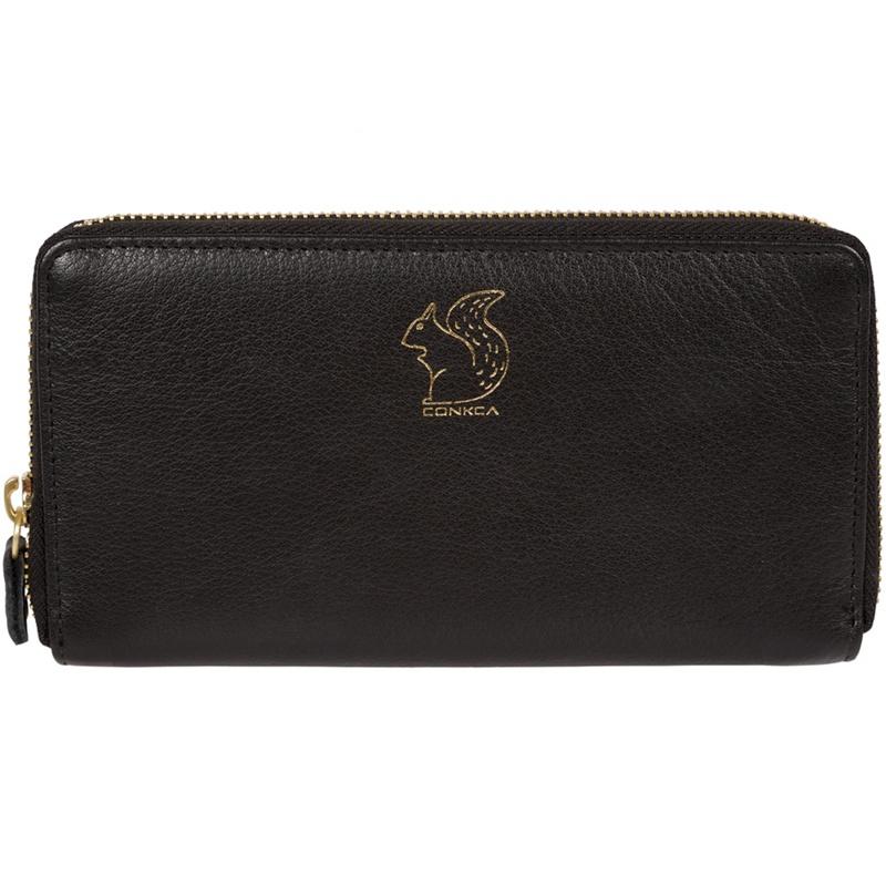 Conkca London Black 'Aisling' leather zip round purse - MISC - Purses (P5056032747371) photo