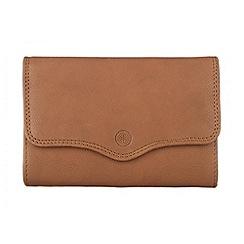 Conkca London - Oak 'Gardenia' veg-tanned leather purse