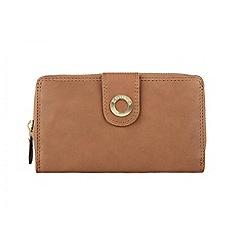 Conkca London - Oak 'Finch' veg-tanned leather large purse