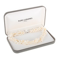 Pure Luxuries London - Gift packaged freshwater pearl twist necklace