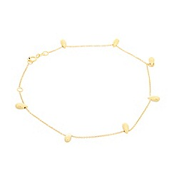 Pure Luxuries London - Gift packaged 9ct yellow gold and teardrop bead bracelet