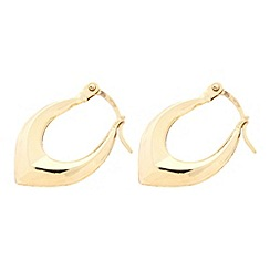 Pure Luxuries London - Gift packaged 9ct yellow gold 'Diana' creole earrings