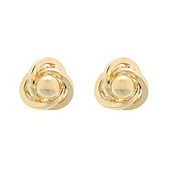Pure Luxuries London - Gift packaged 9ct yellow gold ball and knot earrings