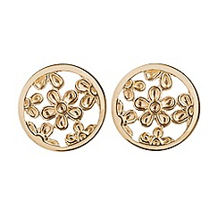 Pure Luxuries London - Gift packaged 7mm 9ct yellow gold filigree stud earrings