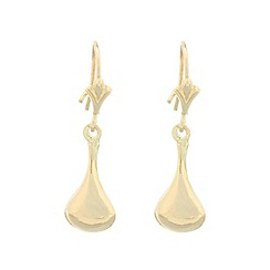 Pure Luxuries London - Gift packaged 9ct yellow gold bell drop earrings