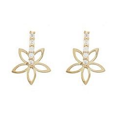 Pure Luxuries London - Gift packaged 9ct yellow gold flower earrings