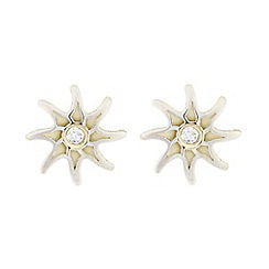 Pure Luxuries London - Gift boxed 'Athena' 9-carat two-colour gold star earrings