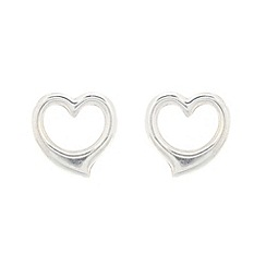 Pure Luxuries London - Gift packaged 9ct white gold heart earrings