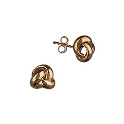 Pure Luxuries London - Gift boxed 18-carat yellow gold 7mm knot earrings