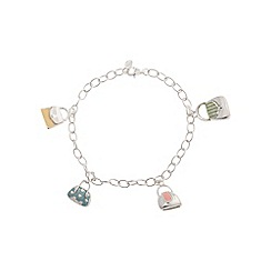 Pure Luxuries London - Gift packaged 'Pam' sterling silver handbag charm bracelet