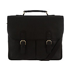 Pure Luxuries London - Black 'Herdley' finest leather briefcase