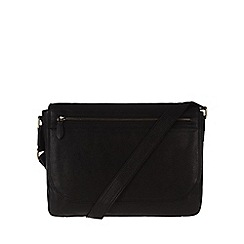 Pure Luxuries London - Black 'Matt' fine natural leather messenger bag