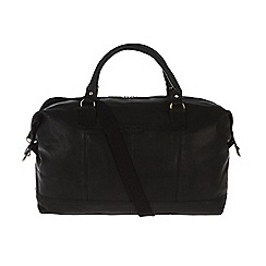 Pure Luxuries London - Black 'Cabin' fine natural leather holdall
