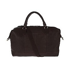 Pure Luxuries London - Brown 'Cabin' fine natural leather holdall