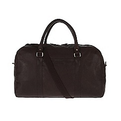 Pure Luxuries London - Brown 'Cargo' fine natural leather holdall