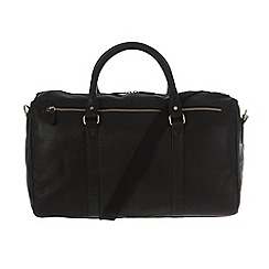 Pure Luxuries London - Black 'Global' natural leather holdall