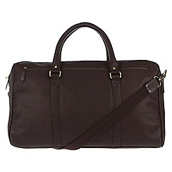 Pure Luxuries London - Dark Brown 'Global' natural leather holdall